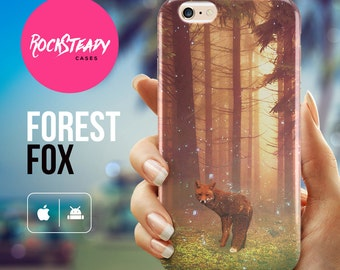 Fox iPhone 7 case, Forest iPhone 6, 6s Plus case, samsung galaxy s7, s6, s5 case, iPhone 5, 5s, SE, 5C case, animal art cell phone cover