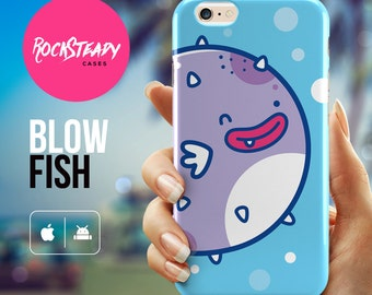 Cartoon Fish iPhone 6 case, Cute iPhone 7 case, iPhone 6 plus Case, iPhone 5s Case, iPhone 5C case, cute iPhone 6 case, samsung s5 kawaii