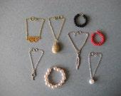 Barbie Doll Necklaces, Barbie Doll Clothes, 8 Assorted Barbie Necklaces, Item #N5