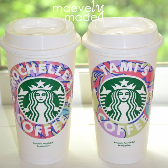 items similar to personalized lilly pulitzer starbucks cup