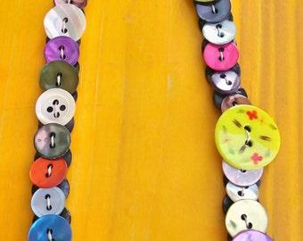 Collar de Botones de Nácar #Candy# Mother of Pearl Buttons Necklace