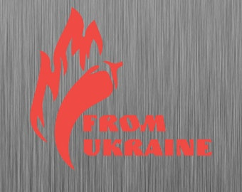 Pepper from Ukraine Car Decal Bumper Sticker