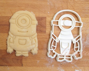 Minion cookie cutter, Despicable Me inspired cookie cutter - one eye