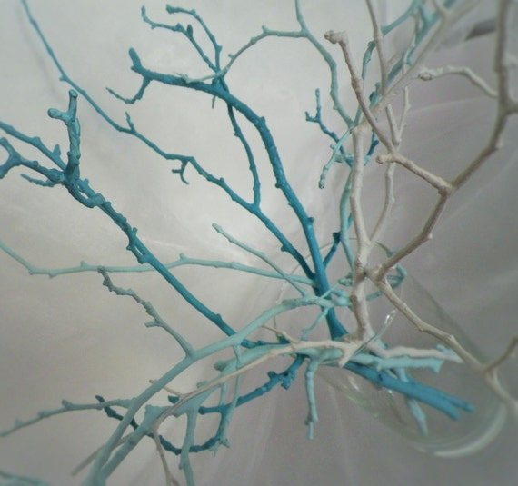 Tree branches home decor vase filler set of 7 by - White painted tree branches ...
