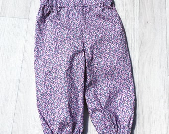 THEA Handmade Girls Liberty of London Print Tana Lawn Children's Casual Trouser Pants Harems