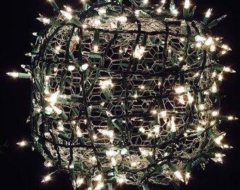 Hanging Outdoor lighted Balls