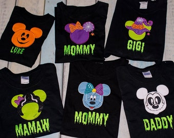 Not So Scary Halloween Personalized Disney Shirts