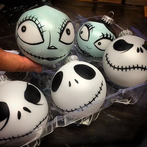 Cool Nightmare Before Christmas Gifts: Jack Or Sally Nightmare Before Christmas Inspired Painted