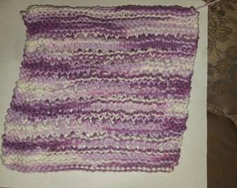 Openwork knit dishcloth