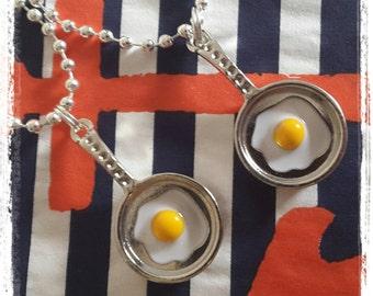Egg Emoji Necklace. Fried Egg Necklace