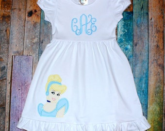 Personalized Dress - Cinderella Applique