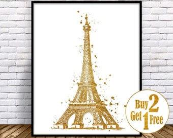 Eiffel Tower Wall Art eiffel tower art | etsy