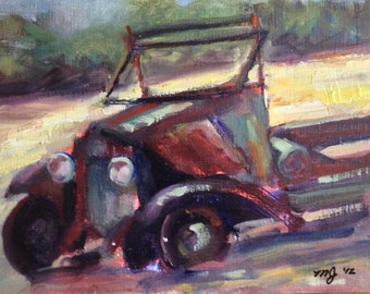 Abandoned Truck, original oil, prize winner in juried show