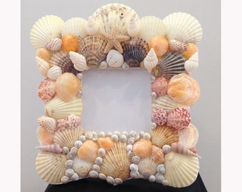 Square Picture Frame with Shells