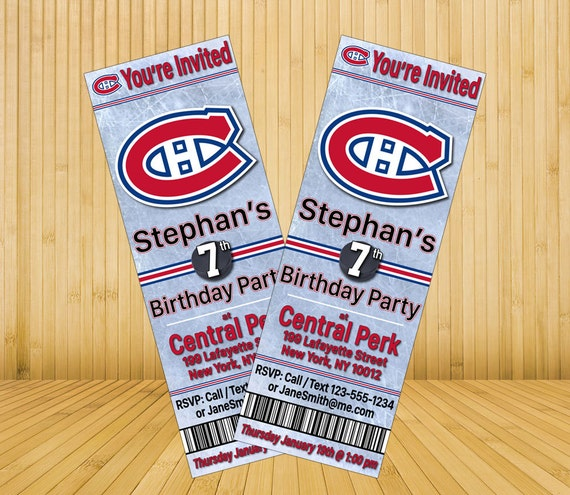 Montreal Canadiens Custom Birthday Party By MysteryBoxStudio