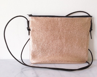 DISCOBAG Special Edition, made from fancy leather, glitterpink