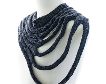 PDF Knitting Pattern - Outbreak - post apocalyptic unisex cowl pattern