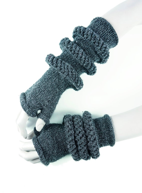 Fingerless Gloves Knitting Pattern Nz : PDF Knitting Pattern - Control - convertible knit ...