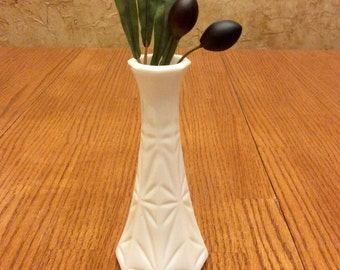 Vintage Hoosier Milk Glass Bud Vase