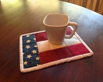 Americana Mug Rug - Snack Mat - Americana Decor