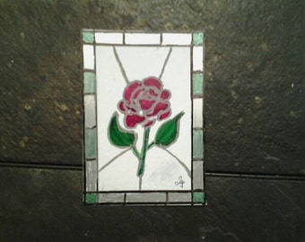 aceo cards faux stained glass