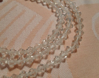 """Sparkling 5mm Crystal Necklace - 21"""" Long"""