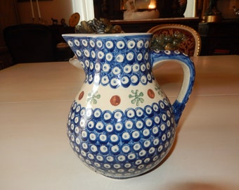 POLAND HEISS B Art Pottery Pitcher