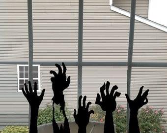 Ghoul Hands - Halloween, Wall, Door or Window Decal
