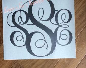 Vinyl monogram decal