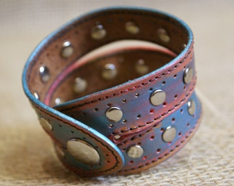 Leather Bracelet -  Made of Top Quality Tanned Leather