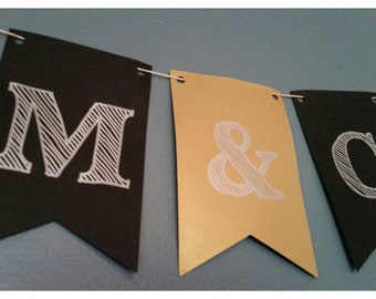 "Bridal Shower ""Initials""  Banner"