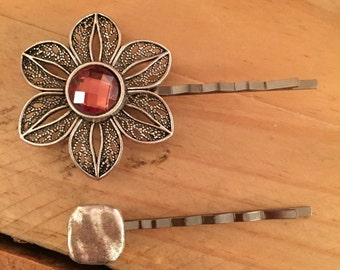 Flower Bobby Pin, Hair Accessories, Decorative Bobby Pins