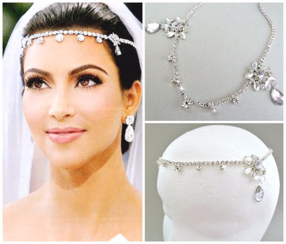 SALE Kim Kardashian Inspired Crystal Bridal Headpiecewedding