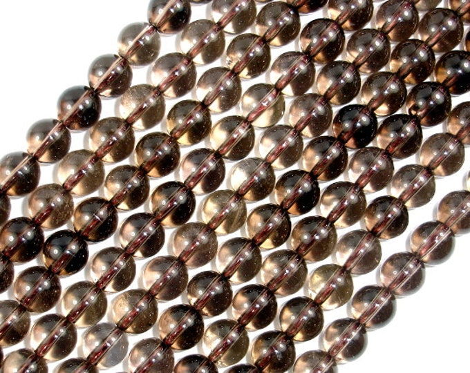 Smoky Quartz Beads, Round, 8mm(8.2mm), 15.5 Inch, Full strand, Approx 48 beads, Hole 1mm (408054003)