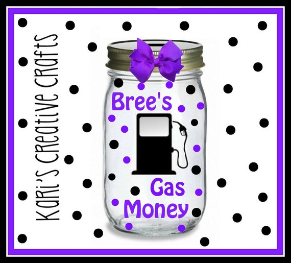 Amazon.com - Gas Money Hand Crafted Word Jar...The ... |Gas Money Jar Pottery
