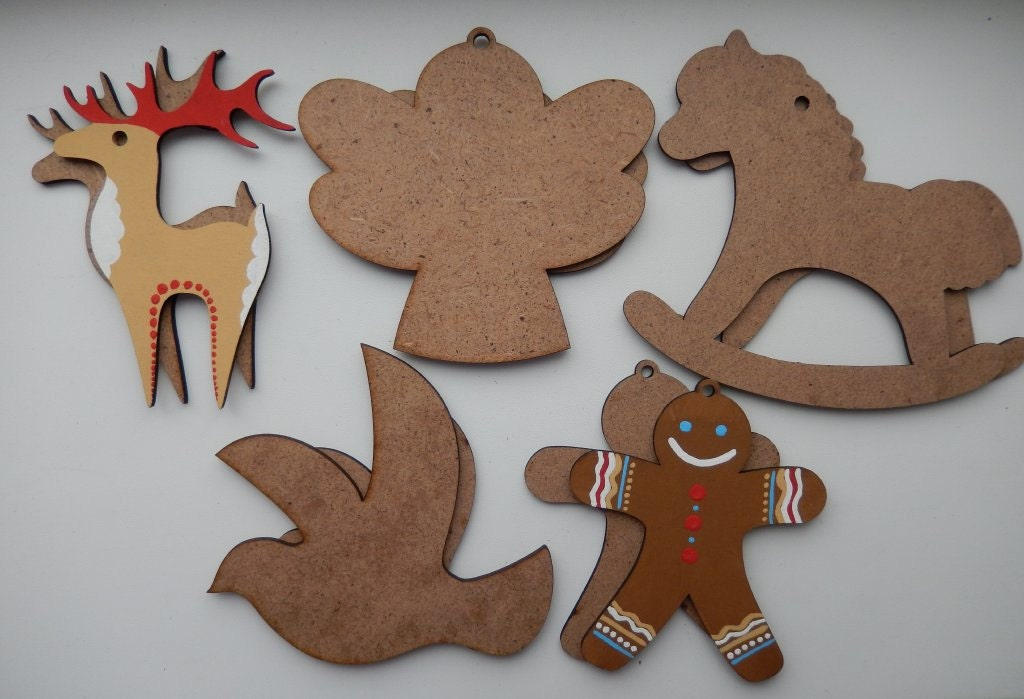 Christmas ornaments xmas wooden cutous xmas wood shapes for Wooden christmas cutouts