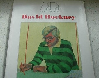 david hockney book with orignal home made print in book