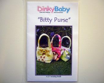 Dinky Baby Pattern 185 - Bitty Purse - Teeny Tiny Purse - Old Version