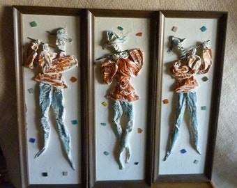 Set of 3 1950's Harlequin Pictures
