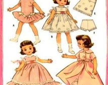 "Vintage Sewing Pattern to make A Beautiful Wardrobe of Clothes for 7.5-8"" Betsy McCall Dolls by PDF for Immediate Digital Download"