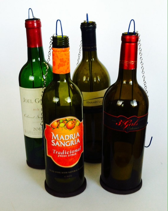 Wine Bottle Candle Holder (Set of 4)
