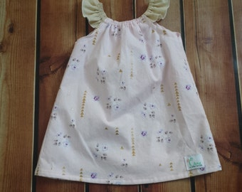 Baby girl dress, flutter sleeve summer dress,newborn dress, baby girl take home dress, handmade baby, baby girl clothing, pink dress, girls