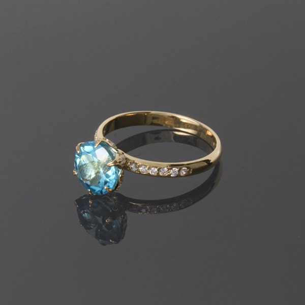solitaire ring topaz ring promise ring gift for gift
