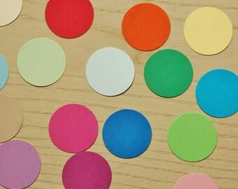 1 inch circle Confetti - Pick your colors. Baby shower confetti, birthday party confetti, wedding confetti.