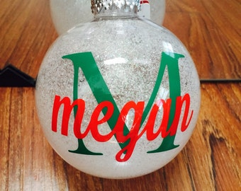 Shatterproof Custom Monogrammed Ornaments