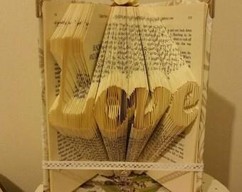 Love | Folded book | Valentines day | Birthday | Gift