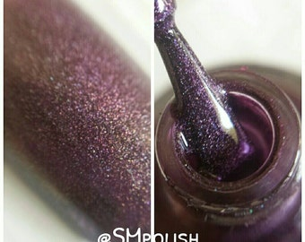 Frozen Berry/ brown/berry colour Holo Nail Polish