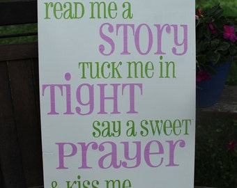 Read Me a Story-Hand Painted Wood Sign