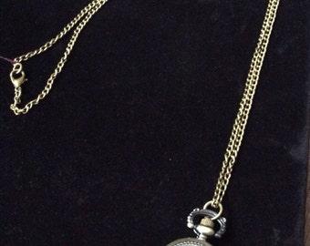 Vintage Look Pocket Watch Necklace