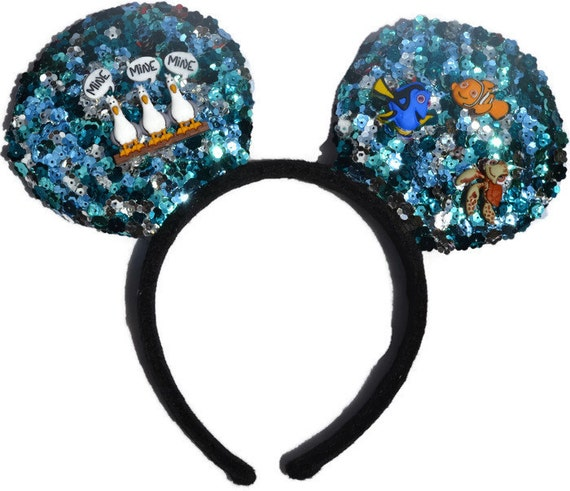 Finding Nemo Inspired Mouse Ears, Disney Inspired Mouse Ears, Character Mouse Ears, Cosplay Headband